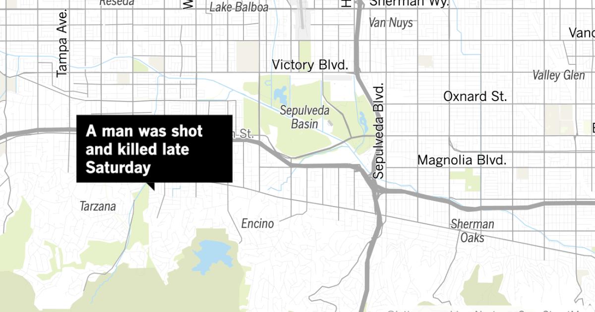 Άντρας πυροβόλησε και σκότωσε αργά το σάββατο έξω από το σπίτι Tarzana