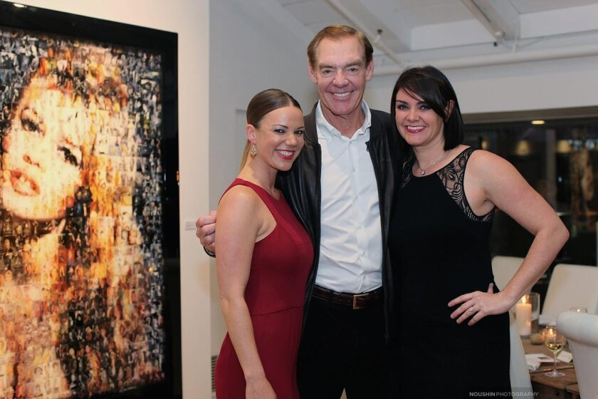 The La Jolla Gallery co-owners Elisabeth King, Jack McGrory, and Ally McGrory Reyes