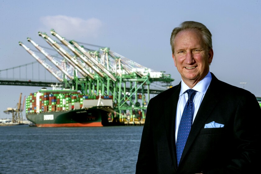 """Less cargo means fewer jobs,"" said Gene Seroka, executive director of the Port of Los Angeles."
