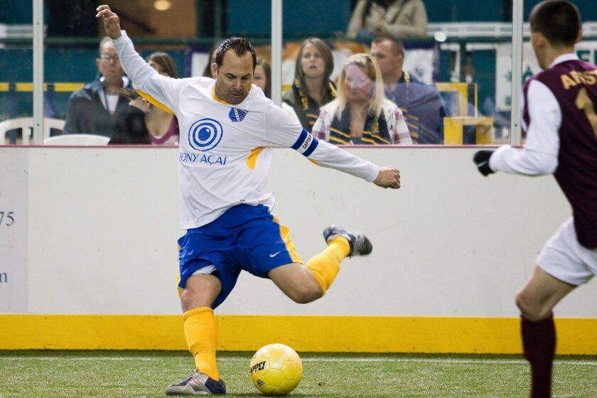 Sockers captain Aaron Susi enjoy one of his best seasons at the age of 38. Photo by Aaron Jaffe.