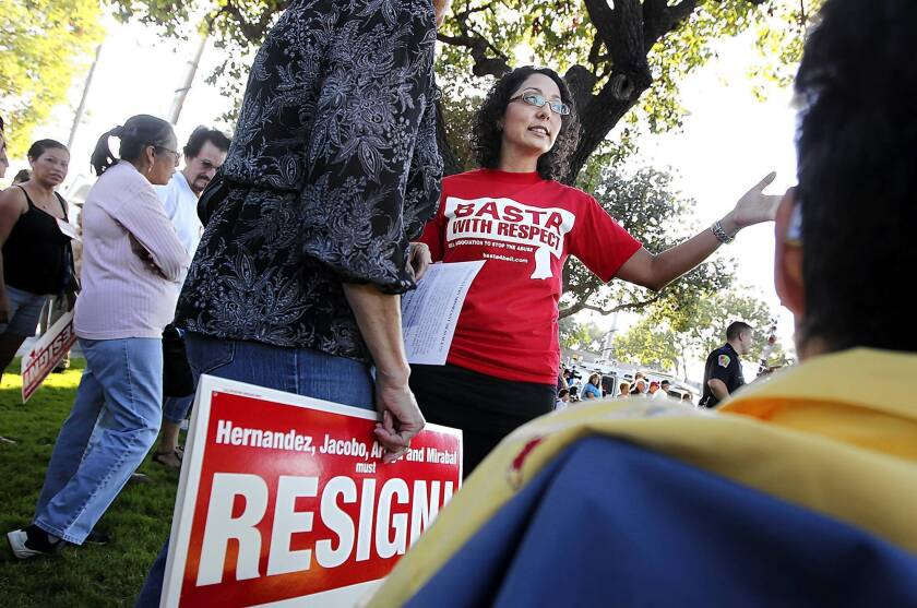 """""""People told me that what mattered most was the successes we had in Bell, and that went across party lines,"""" Cristina Garcia, center, said of her election to the California Assembly."""
