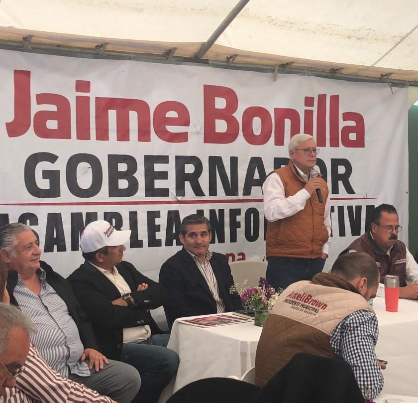 Jaime Bonilla, Baja California's leading candidate for governor