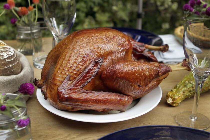 Quinn Hatfield's brined and smoked turkey.