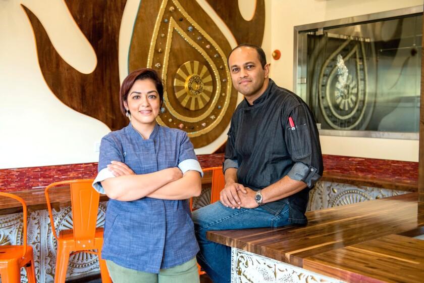 ADYA chefs and partners Shachi Mehra and Sandeep Basrur.