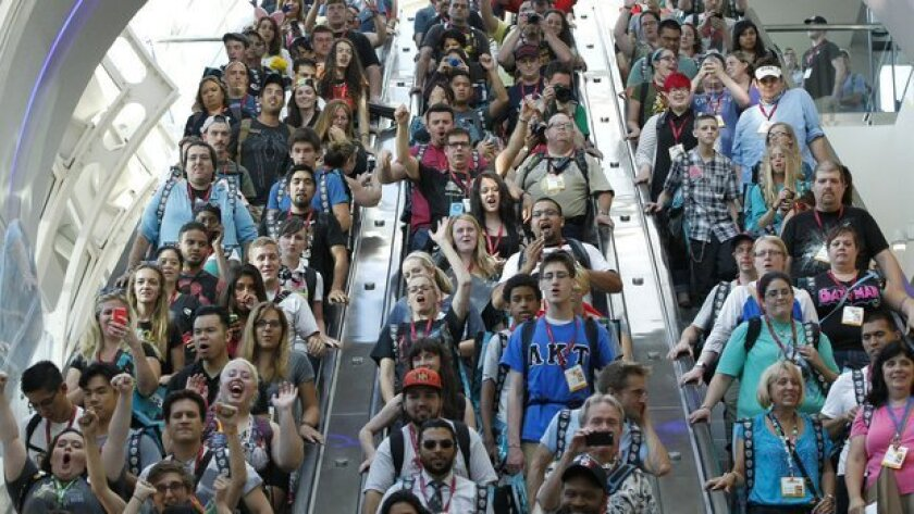Each year, Comic-Con International attracts some 135,000 attendees over four days in July, plus preview night.