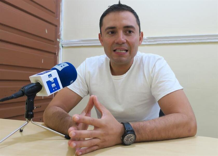 Fotografía con fecha del 28 de agosto del 2018, muestra a Jorge Fernández, el marido y presunto asesino de la española Pilar Garrido, quien habla durante una entrevista con Efe, al interior del penal de Ciudad Victoria, en el estado de Tamaulipas (México). EFE/Archivo