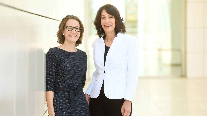 Joan Weinstein, right, deputy director of the Getty Foundation, who helps oversee the Multicultural