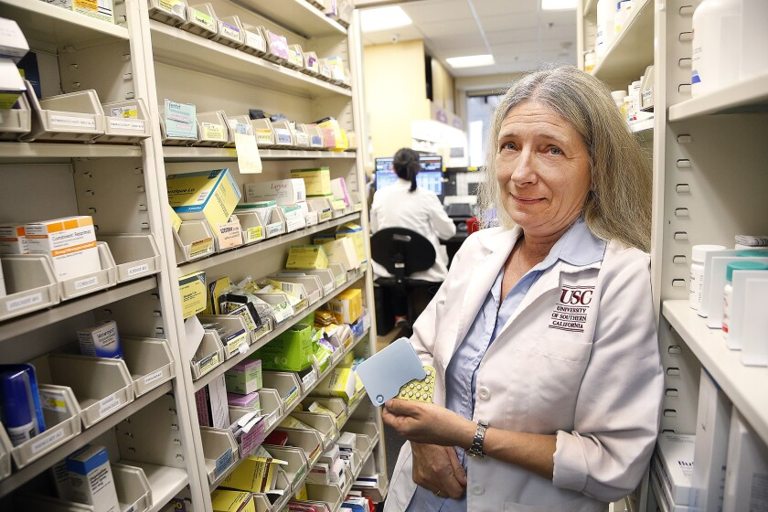 Dr. Kathleen Besinque of the USC School of Pharmacy helped draft legislation allowing pharmacists to prescribe birth control. The measure took effect Friday.