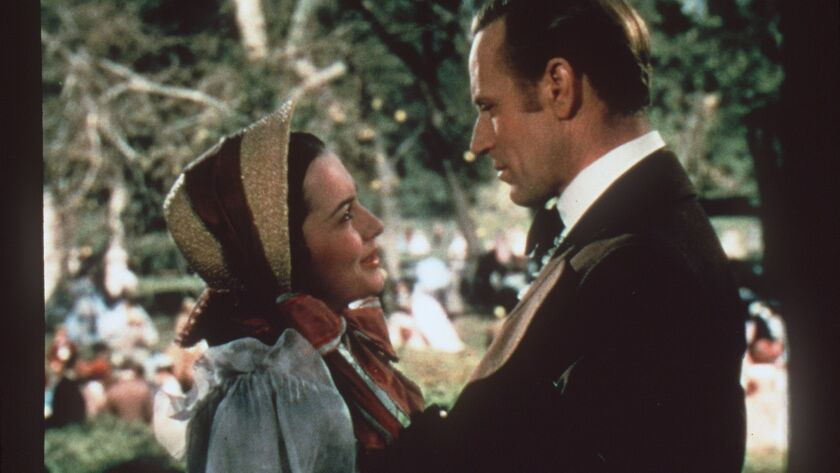 """Olivia de Havilland and Leslie Howard in """"Gone With the Wind."""""""