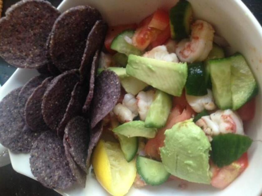 Lettuce-free Southwest Shrimp Salad