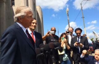 Durst's attorney speaks outside court in New Orleans
