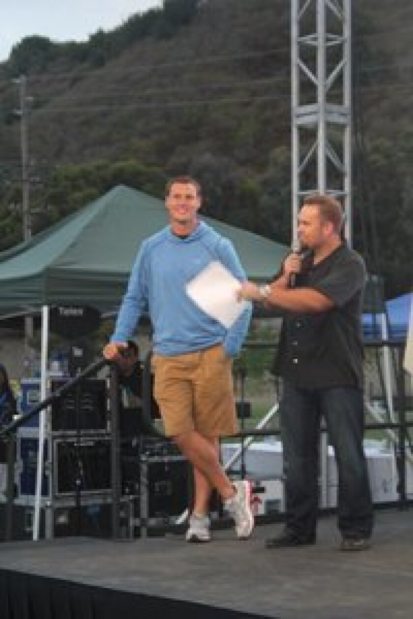 Chargers quarterback Philip Rivers was part of a live auction prize. Brian Wilson of XTRA Sports 1360 was an event emcee.