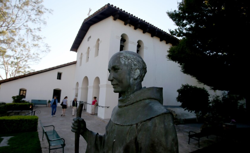 Mission San Luis Obispo de Tolosa in San Luis Obispo was founded in 1772 by Father Junípero Serra.