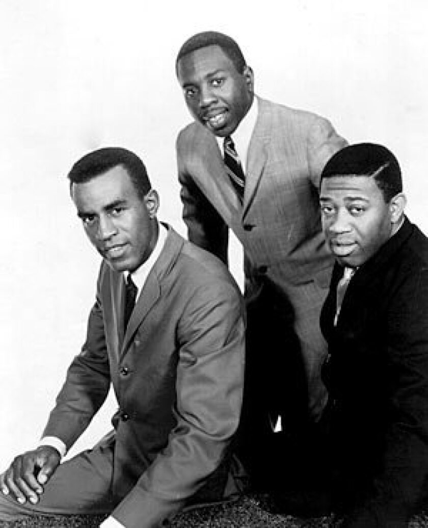 THE IMPRESSIONS: Sam Gooden, Curtis Mayfield and Fred Cash racked up 17 Top 10 hits in the R&B field.