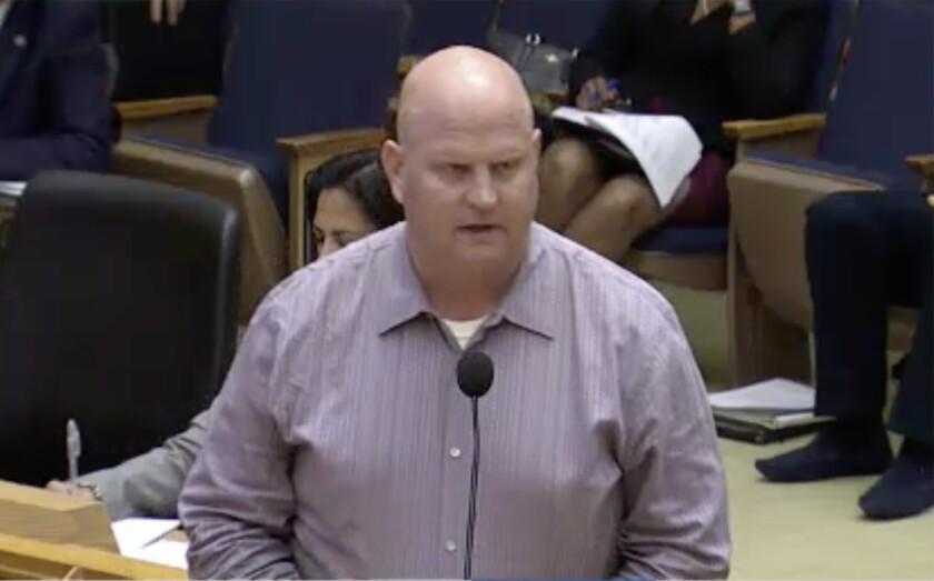 Jason Wood of Cisterra Development spoke to San Diego City Council Oct. 17, 2016.