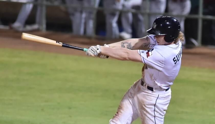 Padres outfield prospect Jack Suwinski started 2021 at Double-A San Antonio.