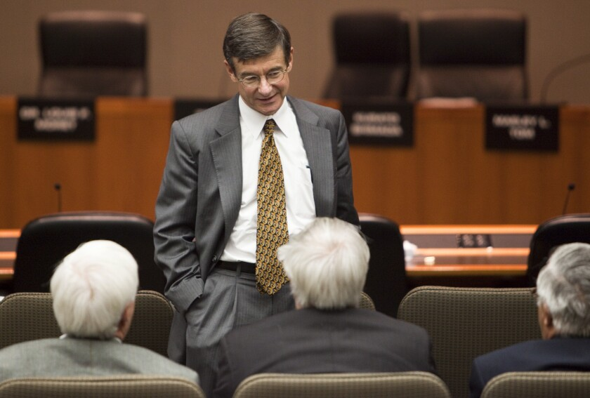 CalPERS posted a 12.5% return on its investments in the year that ended June 30, officials said Monday. Above, Chief Investment Officer Joseph Dear at a CalPERS board meeting in 2009.