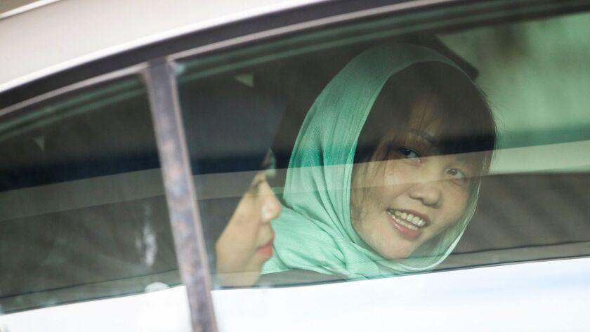 Kim Jong-nam murder case: Vietnamese suspect freed from Malaysian jail, Shah Alam, Malaysia - 01 Apr 2019