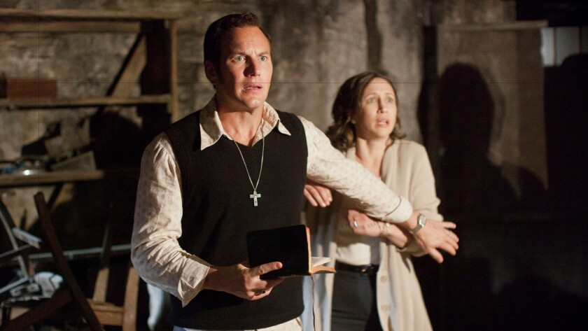 "Patrick Wilson and Vera Farmiga in the supernatural thriller ""The Conjuring 2."""