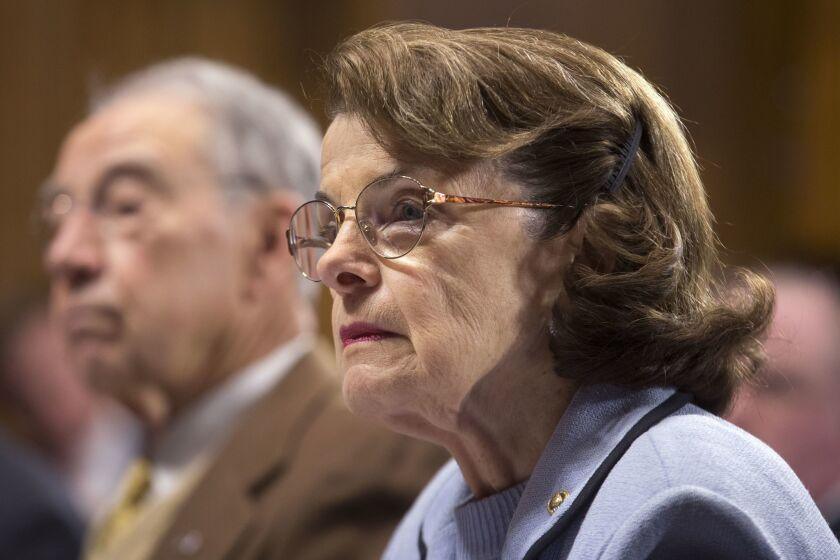 California Democratic Sen. Dianne Feinstein, ranking member of the Senate Judiciary Committee, in 2018.