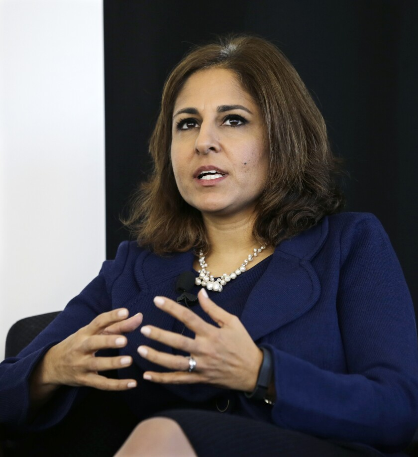 Neera Tanden, president of Center for American Progress and Biden's nominee to head the Office of Management and Budget.