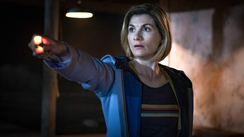 "Jodie Whittaker in the season premiere of ""Doctor Who"" on BBC America."