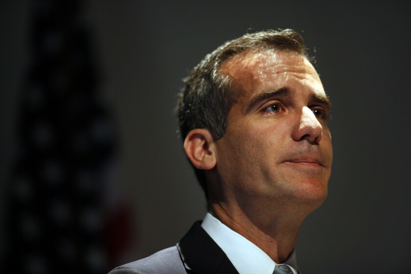 Los Angeles Mayor Eric Garcetti started a nonprofit group to push some city programs.