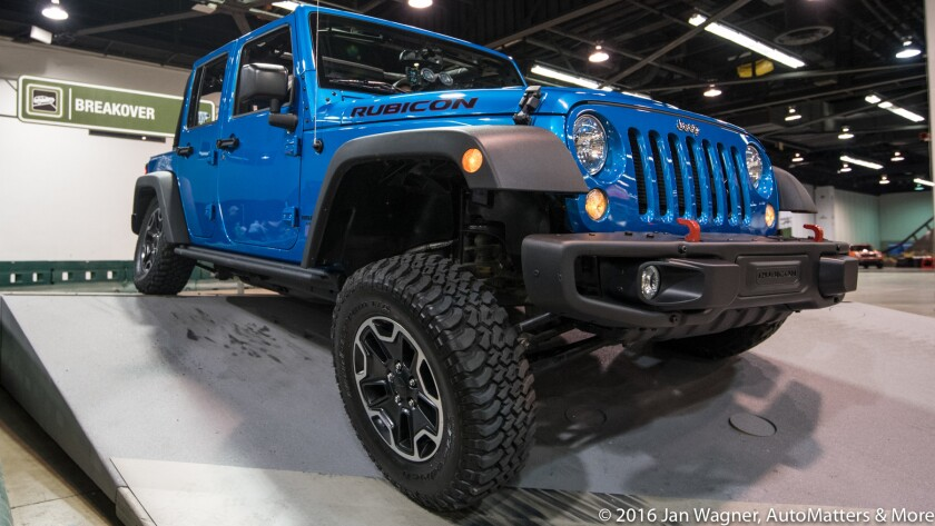 Extreme suspension articulation at Camp Jeep