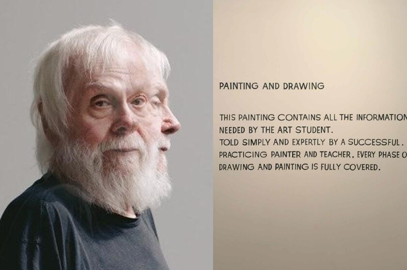 """Palomar College recently sold this John Baldessari artwork titled """"Painting and Drawing."""""""