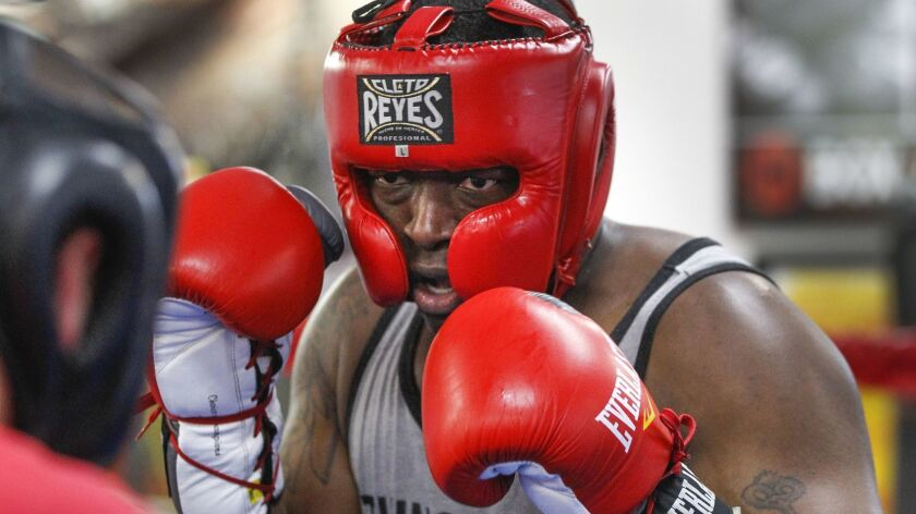 Maurice Turman, an SDPD officer, volunteered to learn boxing for a bout in Saturday's fundraiser.