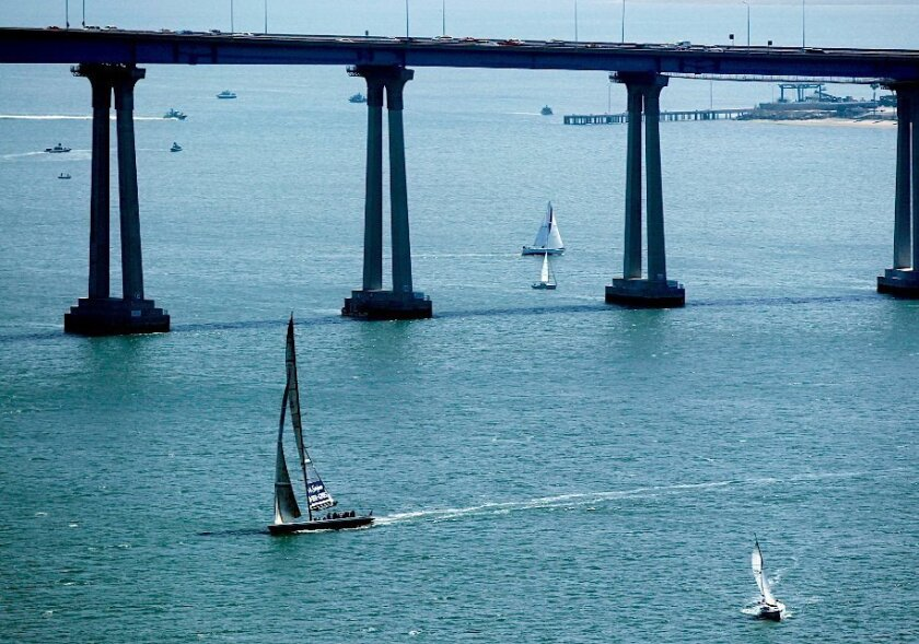 San Diego Bay is the third largest natural bay on the California coast and is home to thousands of pleasure craft and more than 60 Navy warships and submarines.