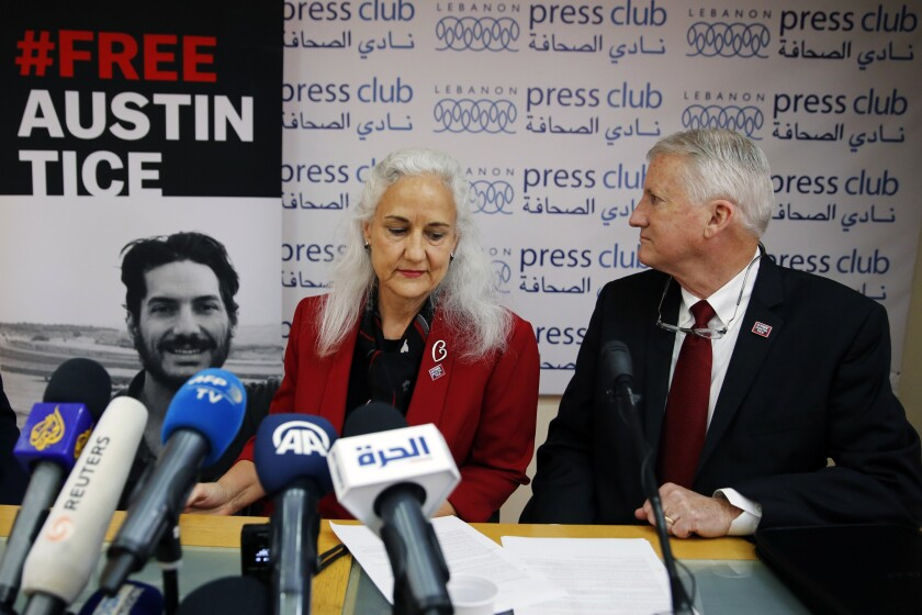 Parents of missing American journalist Austin Tice