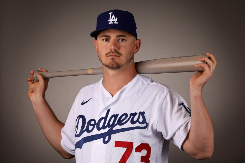 Dodgers second baseman Zach McKinstry.