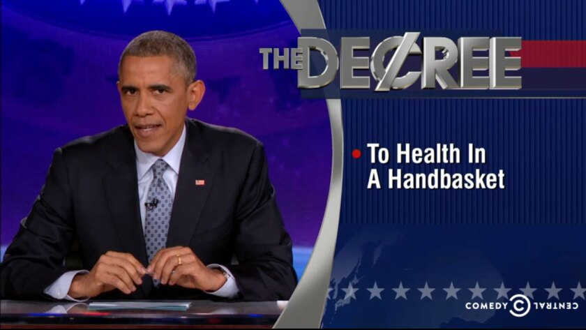 """President Barack Obama appeared on """"The Colbert Report"""" to deliver a comedy routine."""