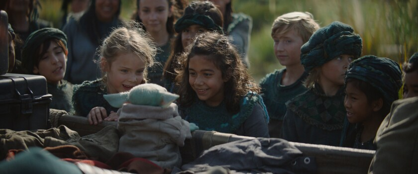The Child and other children in 'The Mandalorian'