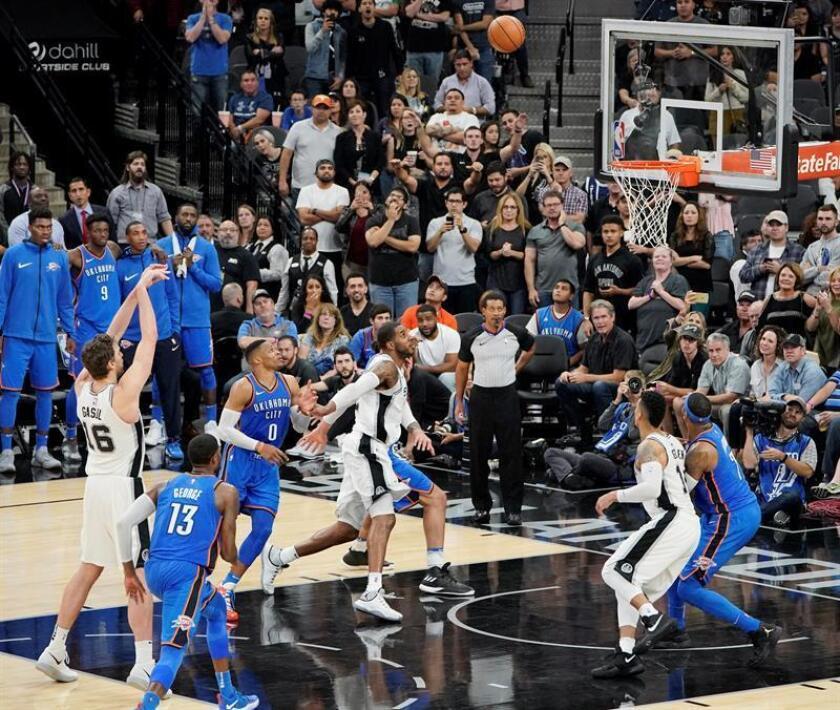 104-101. Aldridge y los Spurs detienen la marcha de los Thunder