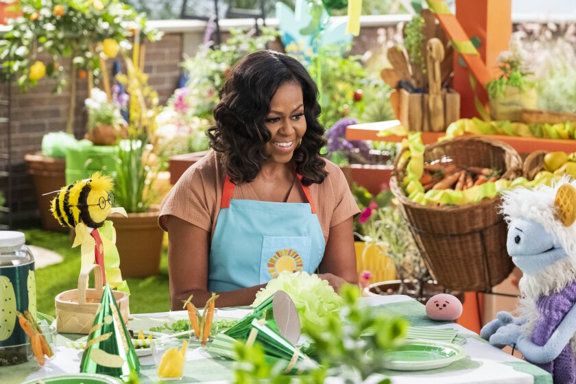 "Michelle Obama in ""Waffles + Mochi"""