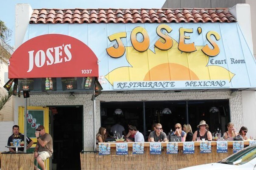 Jose's in La Jolla has outdoor seating with sunset views. Photo: Dave Schwab