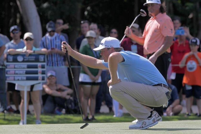 US golfer Patton Kizzire in action during the first day of the PGA Mayakoba Classic, in Playa del Carmen, Quintana Roo, Mexico, 08 November 2018. EPA-EFE/Alonso Cupul