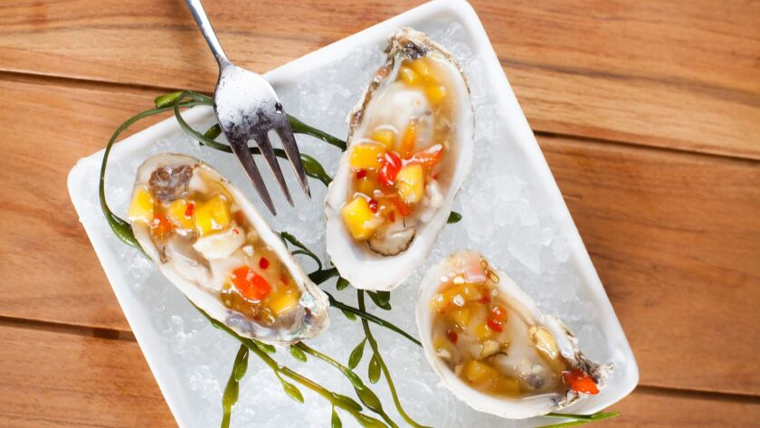 An oyster offering that will be available at Ways & Means Oyster House.