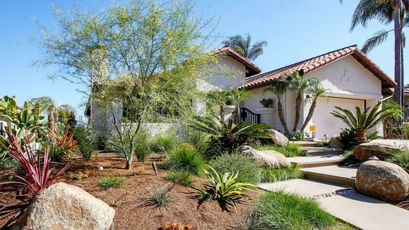 Price increases for resale single-family homes have slowed. Pictured: A home in Carlsbad in mid-September.