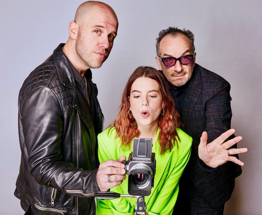 Gian Marco, Nicole Ziniago y Elvis Costello.