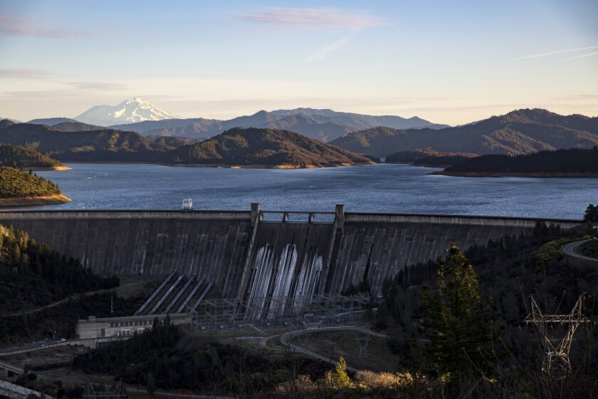 Lake Shasta is a major storage reservoir that lies within the hazard zone of Mt. Shasta. Volcanic ash can contaminate water and damage hydroelectric turbines.