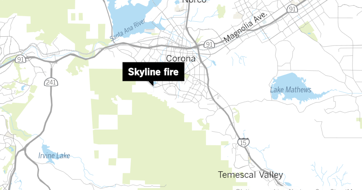 Evacuations ordered in Skyline fire near Corona in Riverside County