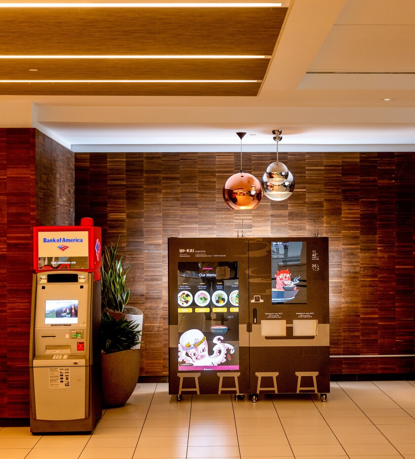 A Yo-Kai Express ramen vending machine at the Metreon center in San Francisco.