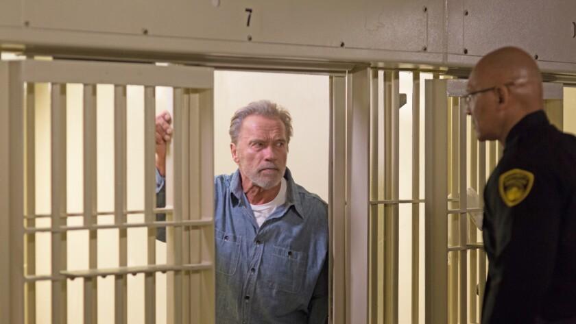 "Arnold Schwarzenegger in the film ""Aftermath."""