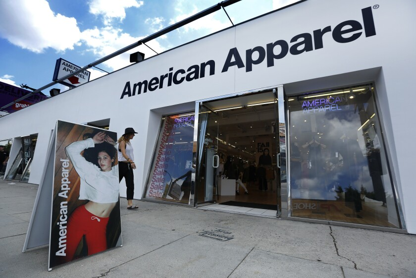 American Apparel is one of several L.A. retailers to declare bankruptcy or go out of business in rec