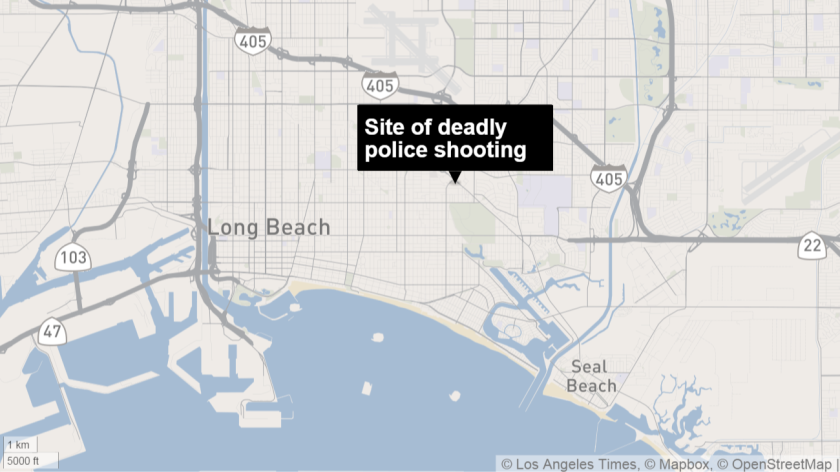 Long Beach police fatally shot a man Wednesday night after a police officer unsuccessfully tried to subdue him.