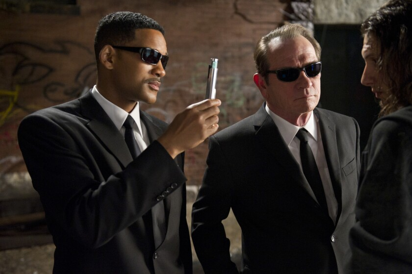 "Will Smith and Tommy Lee Jones star in 2012's ""Men in Black 3."""
