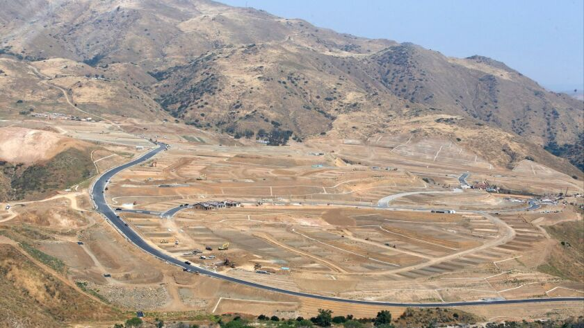 A multi-generational housing development under construction in Temescal Valley.